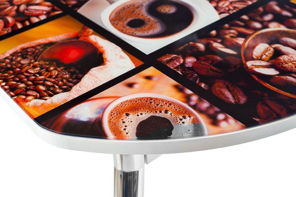 Стеклянный стол с фотопечатью на кухню купить