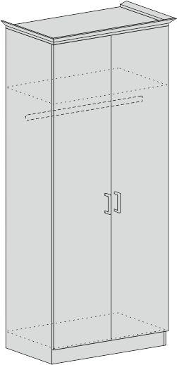 Шкаф распашной альберт-7 шк-323 мдф - отзывы покупателей.