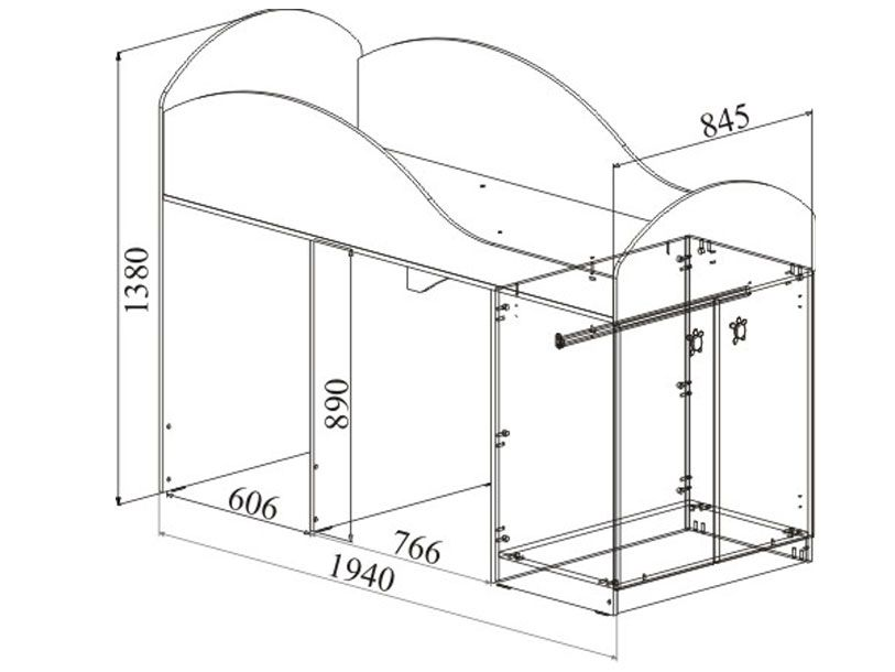 Инструкция по сборке кровати радуга