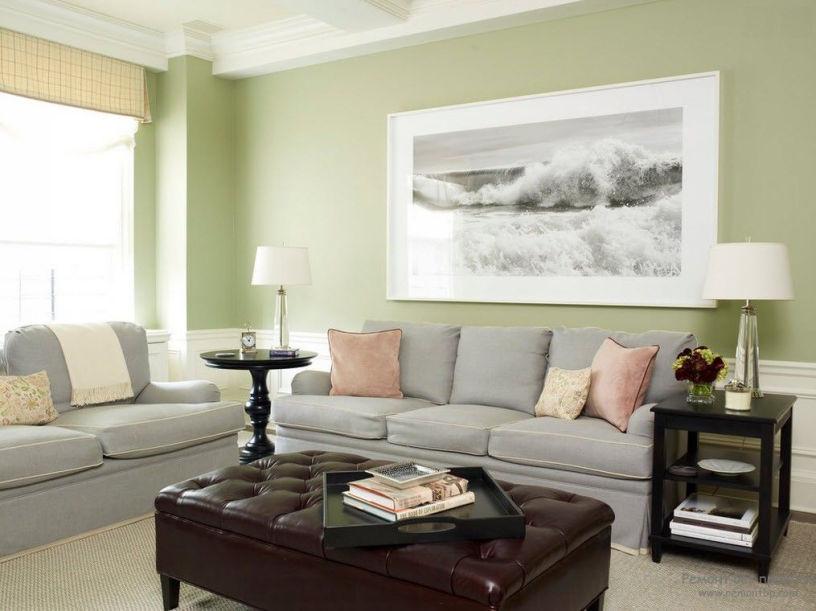 Как выбрать цвет стен в гостиной: 100 фото-идей