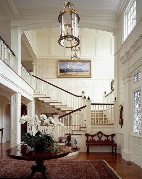 Дизайн холла в частном домей