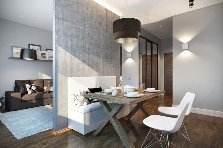 Дизайн квартиры-студии 17 м2