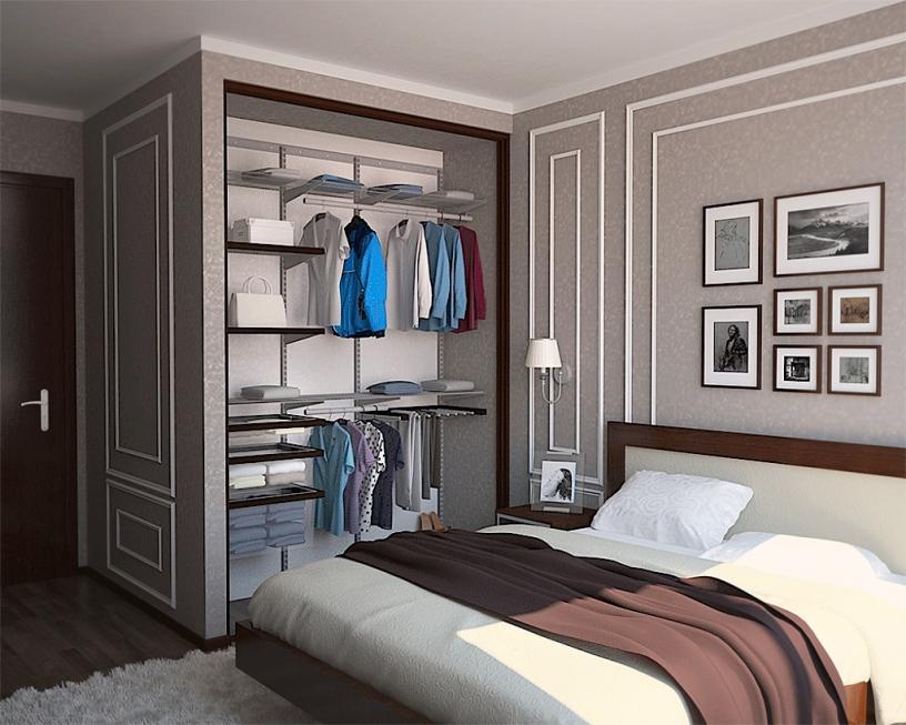 Дизайн спальни 18 м²