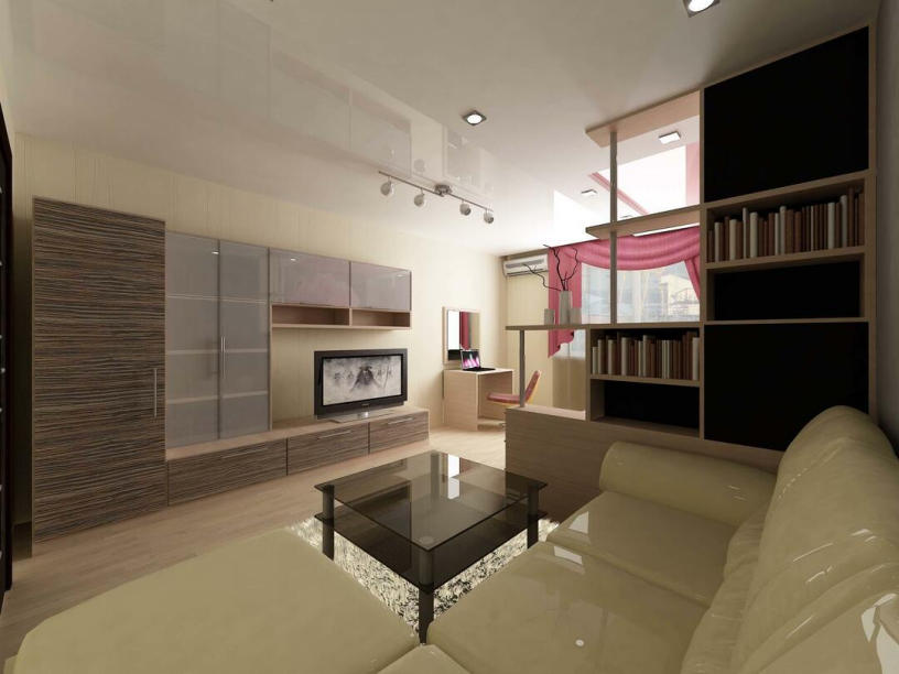 Дизайн гостиной 18 м²