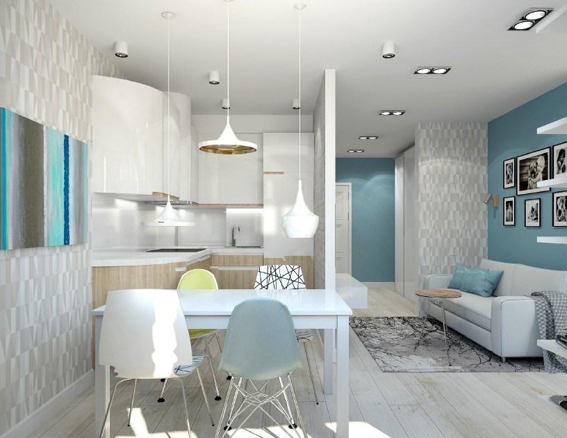 Дизайн квартиры-студии площадью кв. 25 м