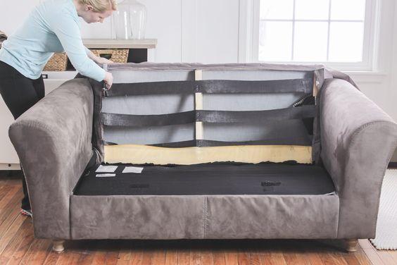 Как перетянуть диван - 26