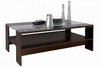 Журнальный стол со стеклом модерн (лофт) венге арт118